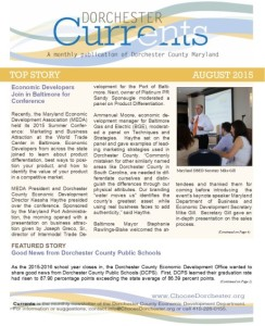 DCED Currents Newsletter 08-2015 Cover