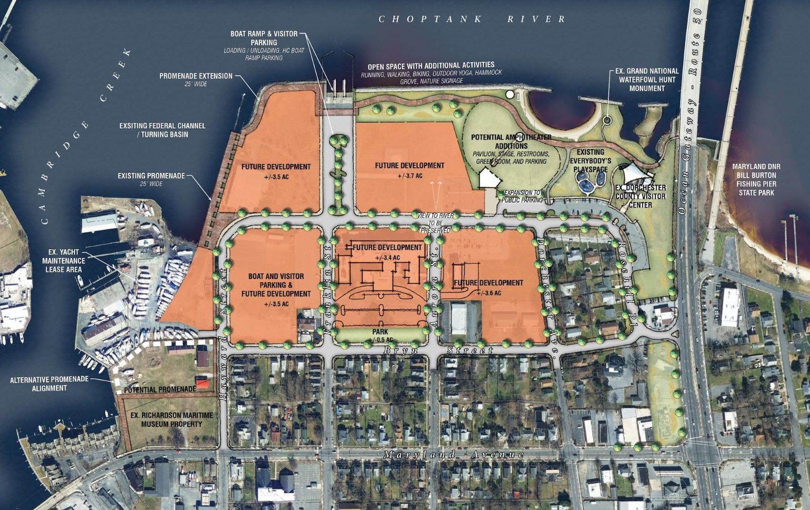 Cambridge Waterfront Development Site Plan
